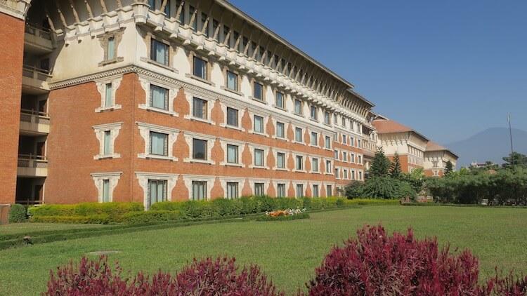 ホテルの庭4