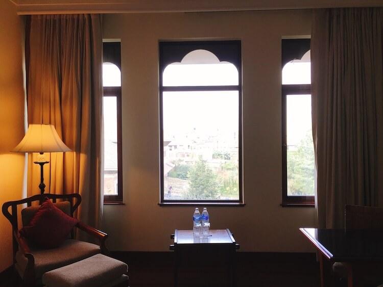 客室内の窓